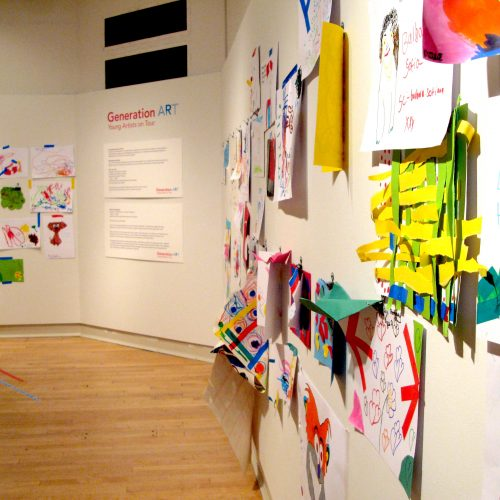 Generation ART visitor artworks at New Walk Museum and ART Gallery