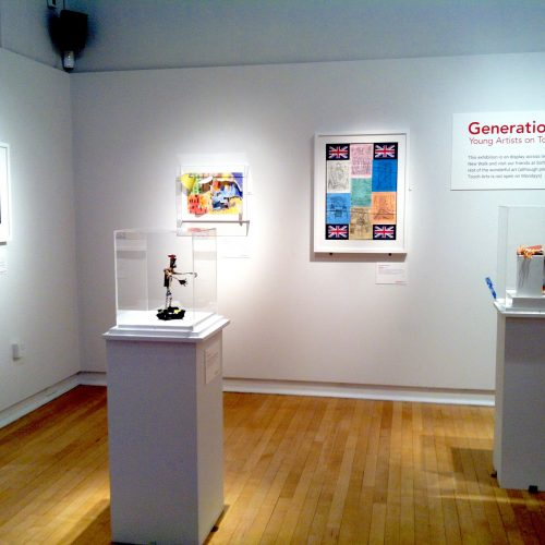 Generation ART exhibition installed, New Walk Museum and Art Gallery