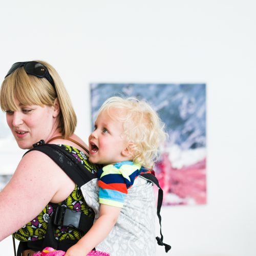 Mother and baby, Generation ART exhibition, Turner Contemporary