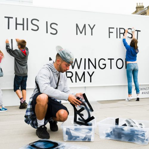 Generation ART Leandro Stafford commission with young people from Newington Youth Group, Turner Contemporary