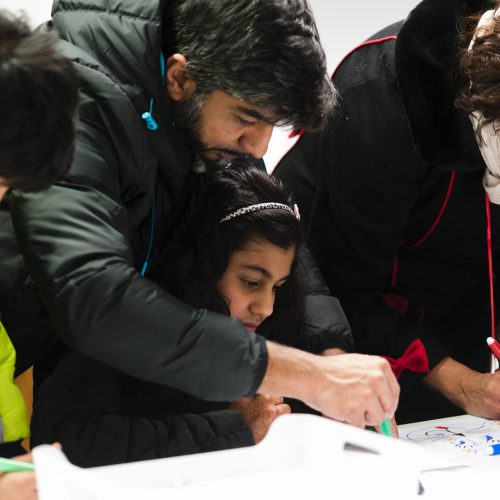Family workshop, Generation ART, Leicester