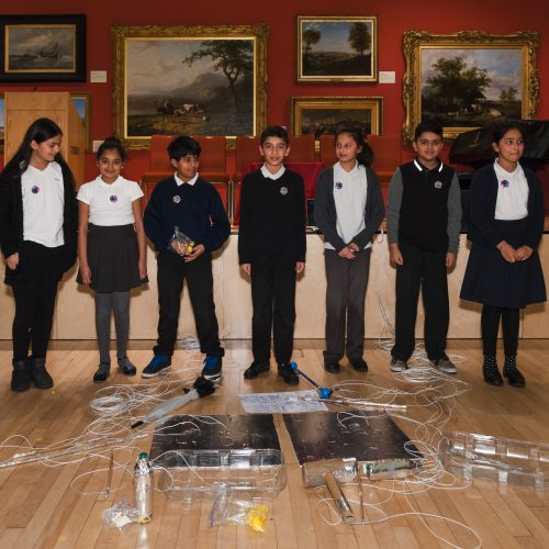 Mellor School pupils at Generation ART launch, Leicester