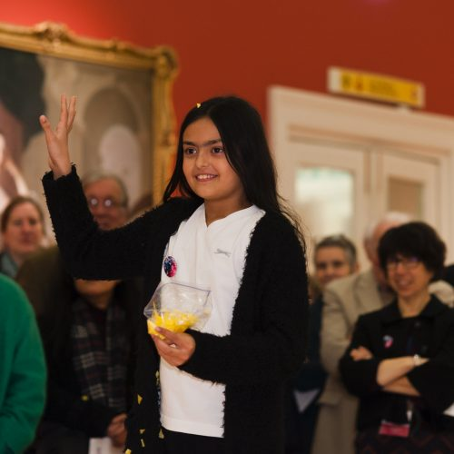 Mellor School pupil at Generation ART launch, Leicester