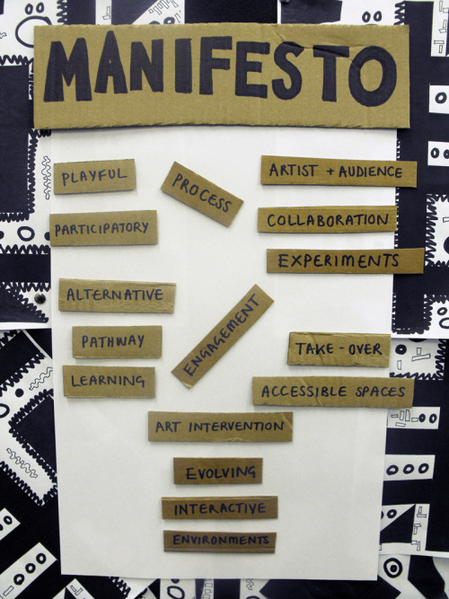 Untitled Play manifesto in cut cardboard